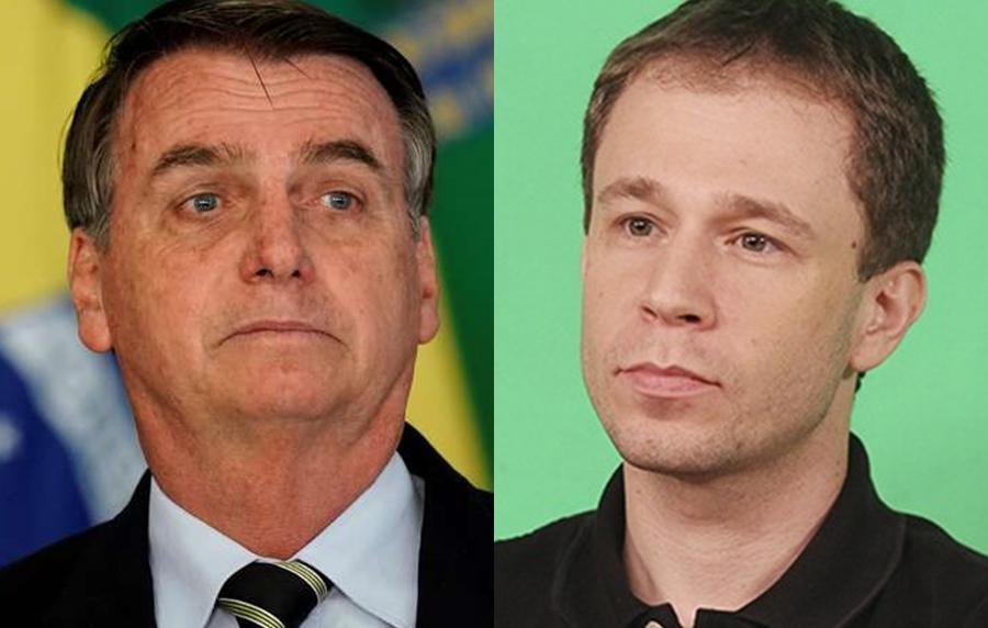 Jair Bolsonaro e Tiago Leifert (Foto: Reprodução)