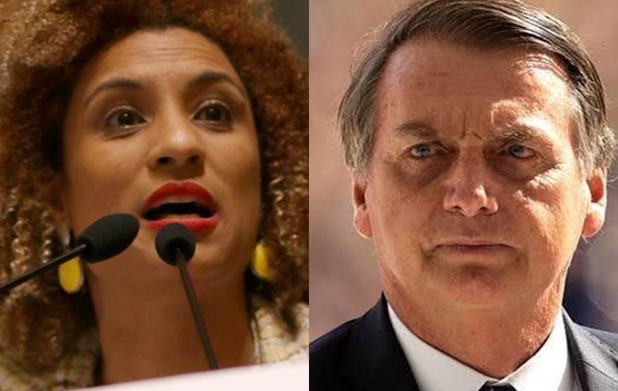 Jair Bolsonaro x Marielle Franco (Foto: Reprodução)