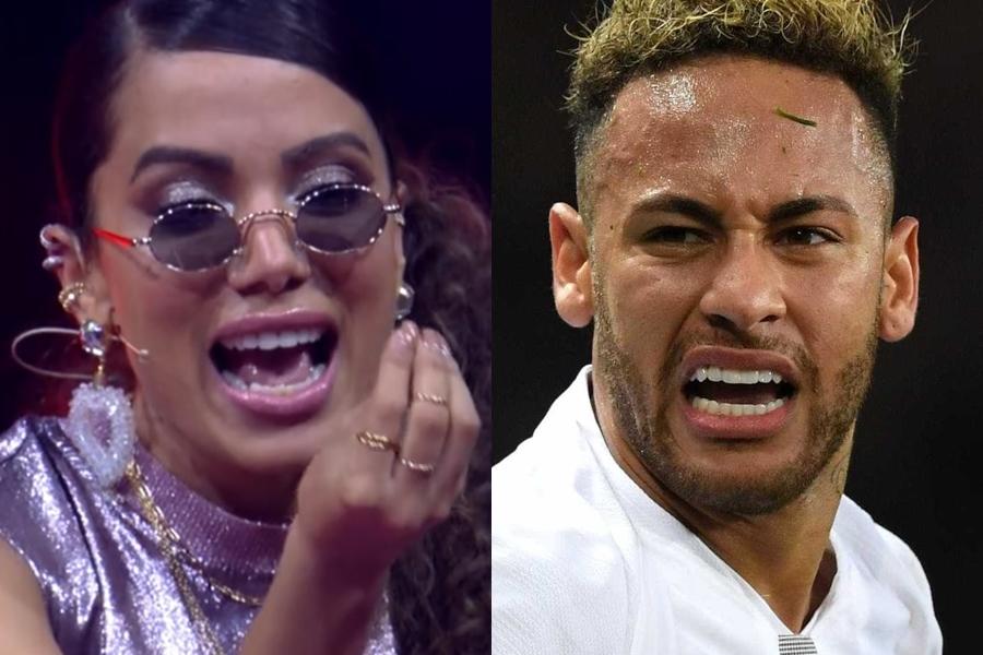 Neymar pegou Anitta com a boca na botija (Foto: Reprodução)