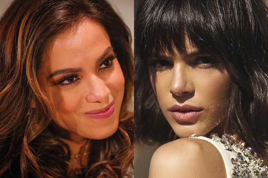 Anitta e Bruna Marquezine (Foto 1: Marcos Alves / Foto 2: Instagram)