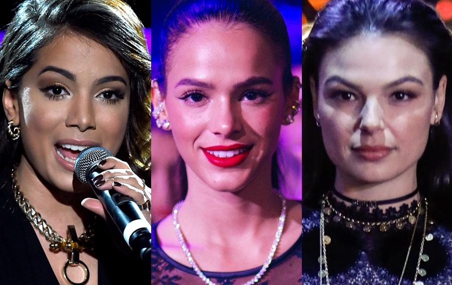 Isis Valverde, Bruna Marquezine e Anitta na Globo (Foto: Reprodução)