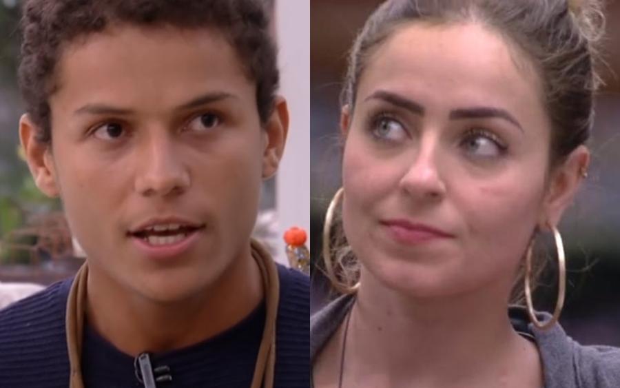 Danrley e Paula no BBB 19 da Globo (Foto: Reprodução)
