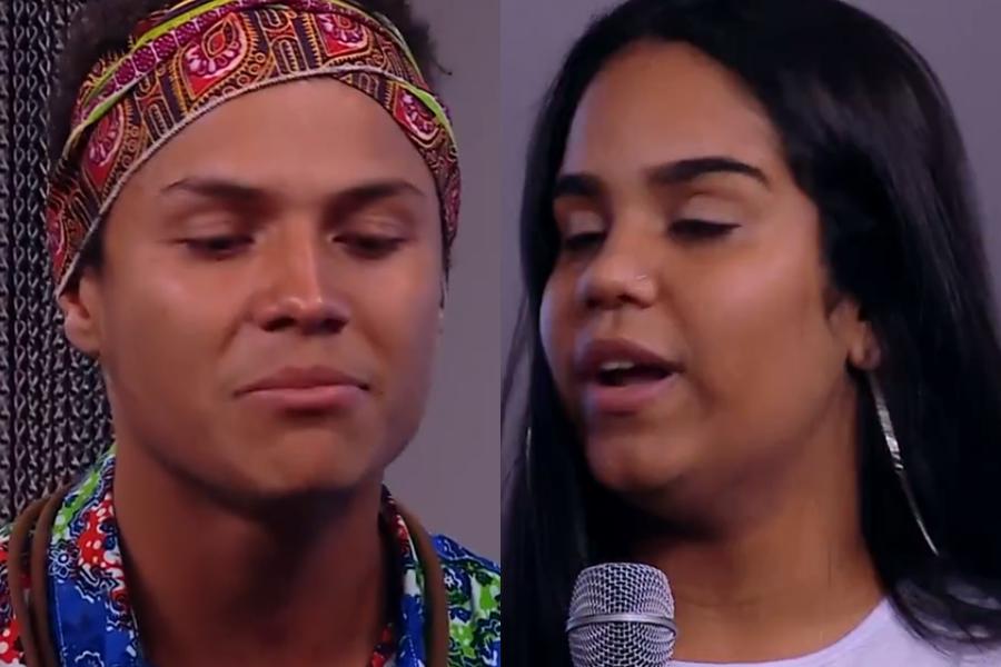 Danrley e a namorada na Globo (Foto: Reprodução)