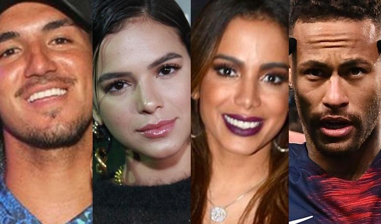 Gabriel Medina, Bruna Marquezine, Anitta e Neymar (Foto: Reprodução)
