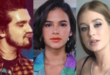 Luan Santana, Bruna Marquezine e Marina Ruy Barbosa (Foto: Reprodução)