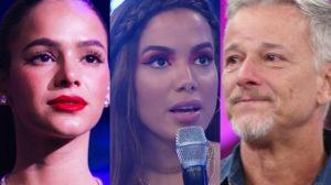 Bruna Marquezine, Anitta e Marcello Novaes na Globo (Foto: Reprodução)