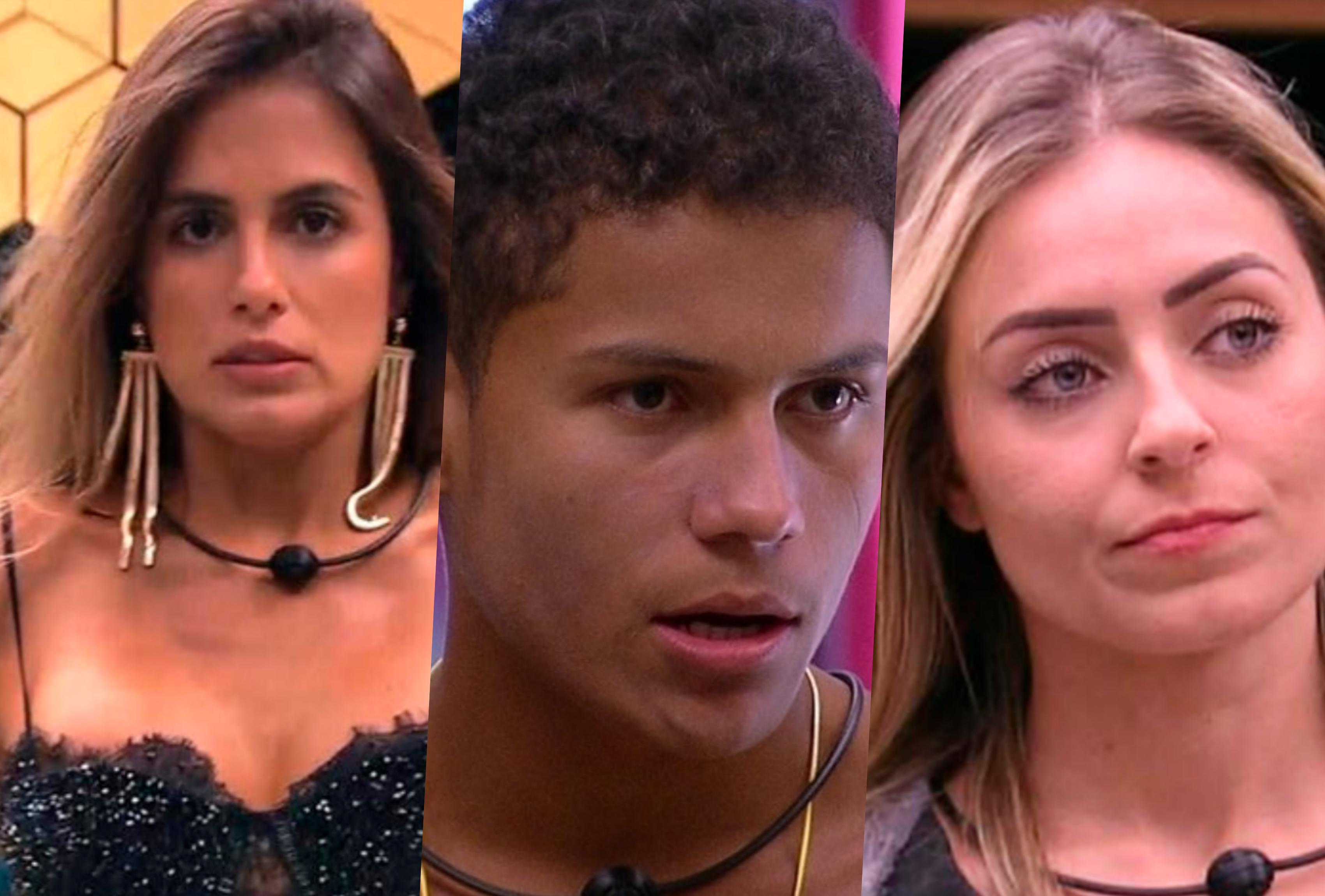 Paredão do BBB19 é entre Carol Peixinho, Danrley e Paula (Foto montagem: TV Foco)