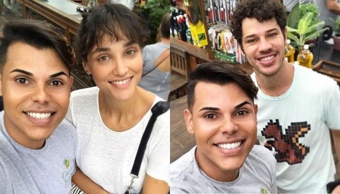 Fã junto com Débora Nascimento e José Loreto (Foto: Reprodução/Instagram)