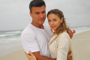 Marcelo (Leonardo Vieira) e Maria (Bianca Rinaldi) em Caminhos do Coração (Foto: Divulgação/Record)