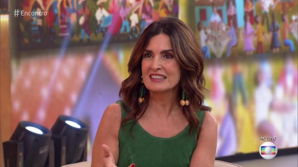 """Fátima Bernardes em seu programa """"Encontro"""" (Foto: Imagem/ Reprodução)"""