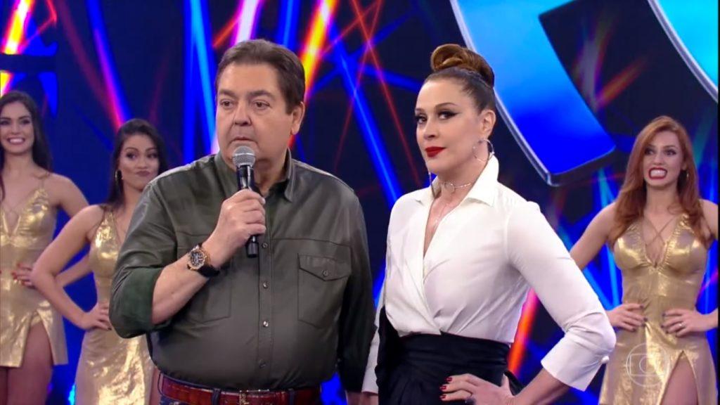 Faustão e Claudia Raia (Foto: Divulgação)