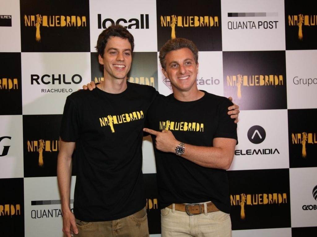 Fernando Grostein Andrade e Luciano Huck juntos