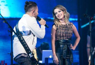 Sandy e Junior voltam a cantar em especial de 30 anos no Caldeirão do Huck (Foto: Globo/Raquel Cunha)