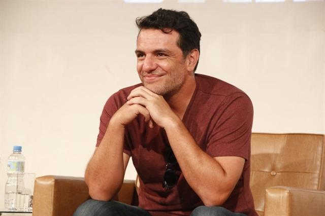 O ator Rodrigo Lombardi no lançamento da segunda temporada da série Carcereiros (Foto: Globo/Marcos Rosa)