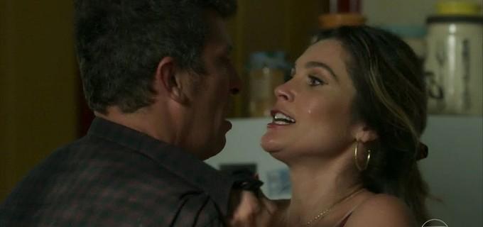 Joubert e Rita de Cássia em O Sétimo Guardião (Foto: Reprodução/ Globo)