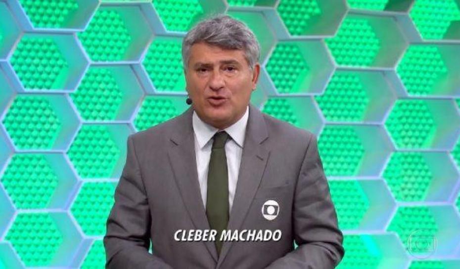 O narrador do grupo Globo, Cleber Machado (Foto: Reprodução/Globo)