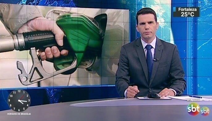 João Fernandes no SBT Notícias (Foto: Reprodução)