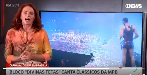 Jornalista Leilane Neubarth fica chocada após xingamento a Bolsonaro (Foto: Reprodução)