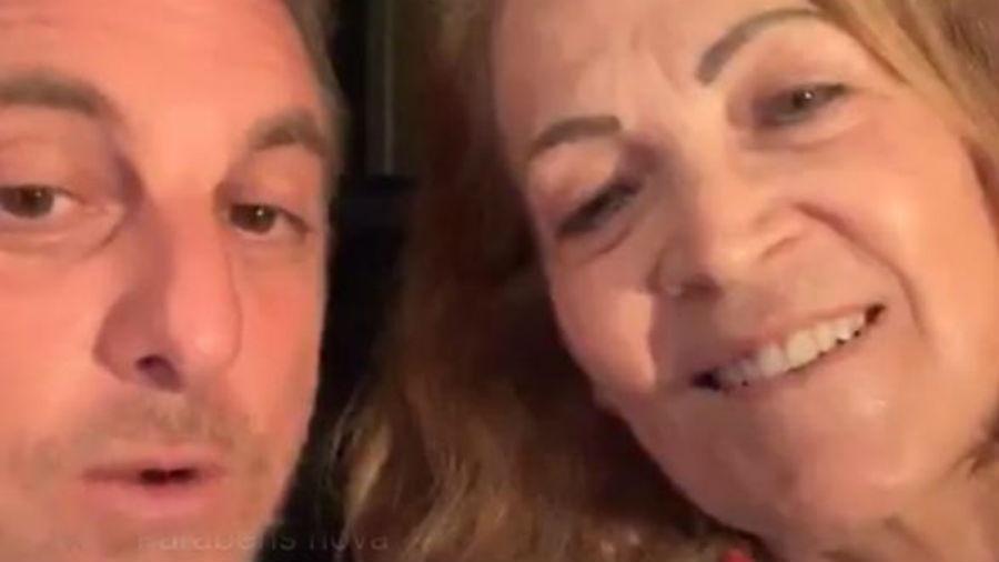 Luciano Huck e a sogra, dona Angelina (Foto: Reprodução/Instagram)