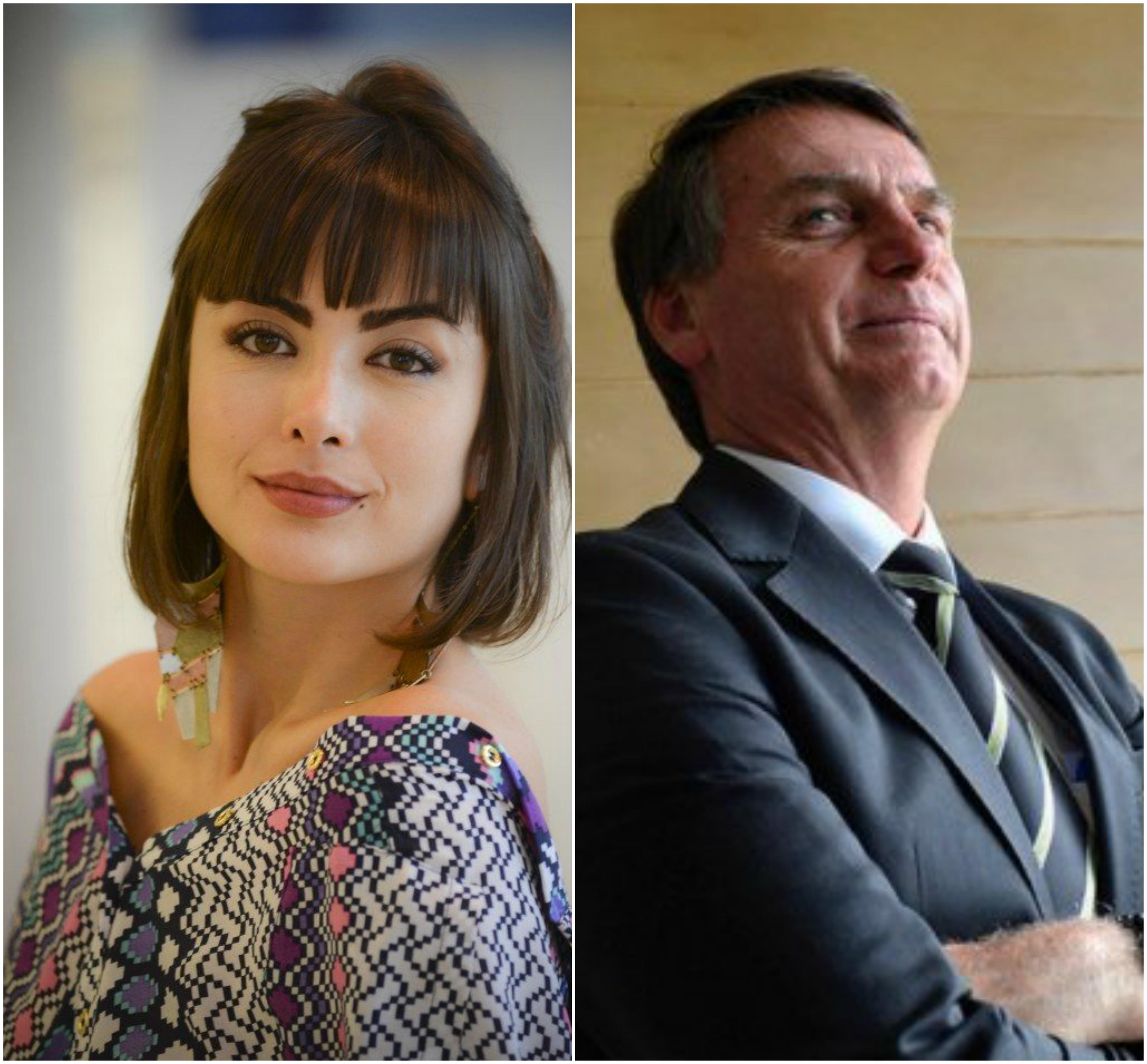 Maria Casadevall e Jair Bolsonaro (Foto: Reprodução)