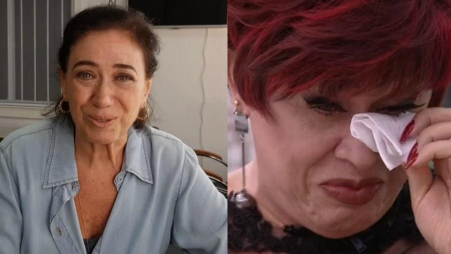 Nany People chora com depoimento de Lilia Cabral Imagem: Reprodução/Globo