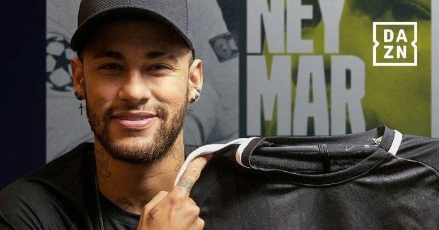 Neymar é o embaixador brasileiro da DAZN, serviço de streaming que promete bater a Globo (Foto: Reprodução)