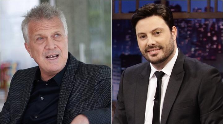 Pedro Bial e Danilo Gentili são concorrentes na TV. (Foto: Montagem/Divulgação)