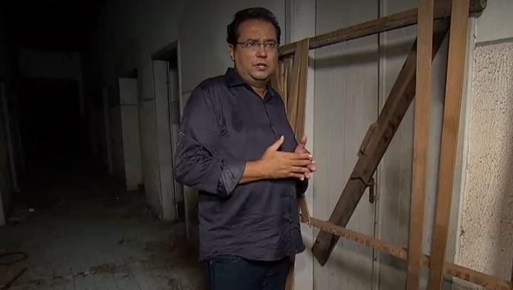 Geraldo Luís voltou a gravar matérias de mistério para o Domingo Show. (Foto: Reprodução/RecordTV)
