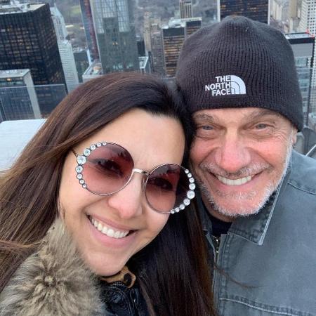Veruska Seibel e o ex-jornalista da Band, Ricardo Boechat, que morreu após um acidente de helicóptero (Foto: Reprodução/Internet)