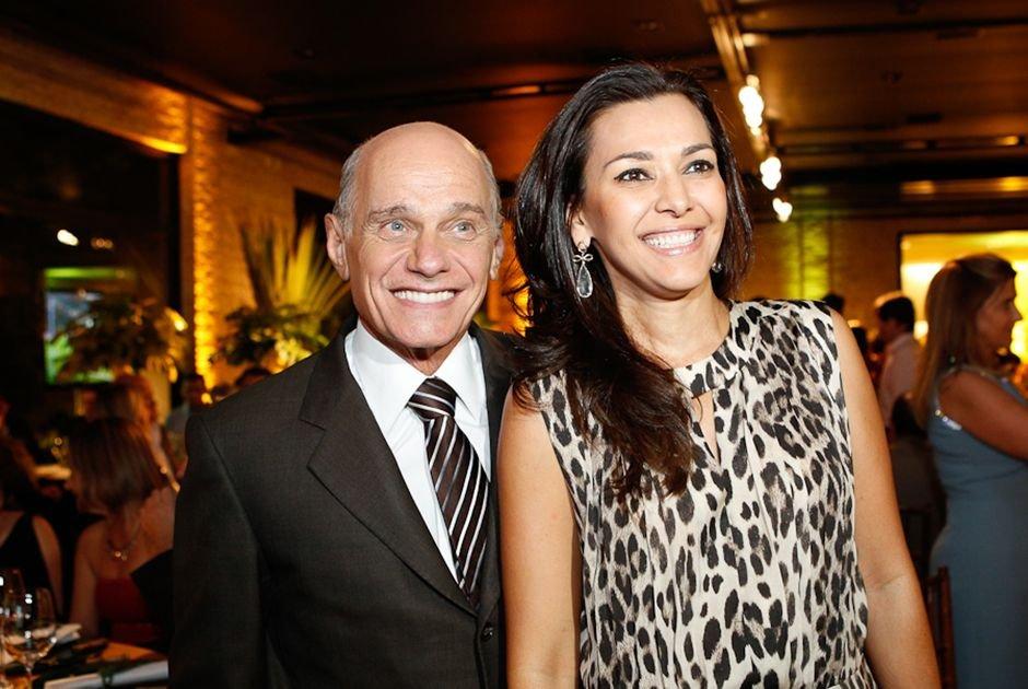Ricardo Boechat e Veruska (Foto: Reprodução)