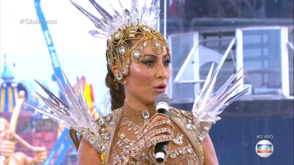 Sabrina Sato no Carnaval Globeleza (Reprodução / TV Globo)