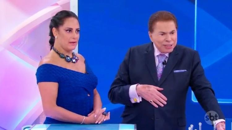 Silvio Santos e a filha Silvia Abravanel Imagem: Reprodução/SBT