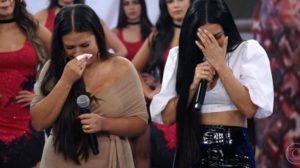 No Arquivo Confidencial do Domingão do Faustão, Simone e Simaria foram as lágrimas (Foto: Reprodução/ Globo)