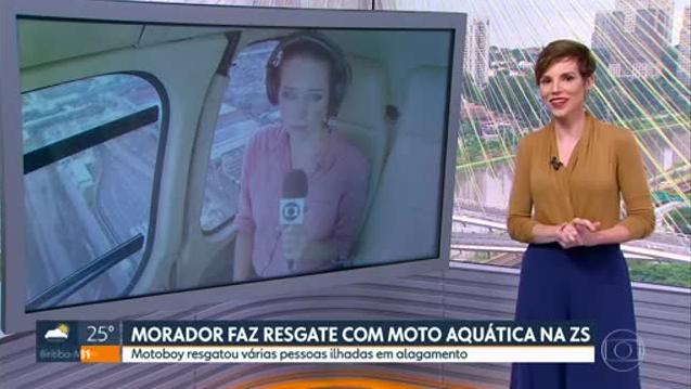 Glória Vanique no SP1 (Foto: Reprodução/Globo)