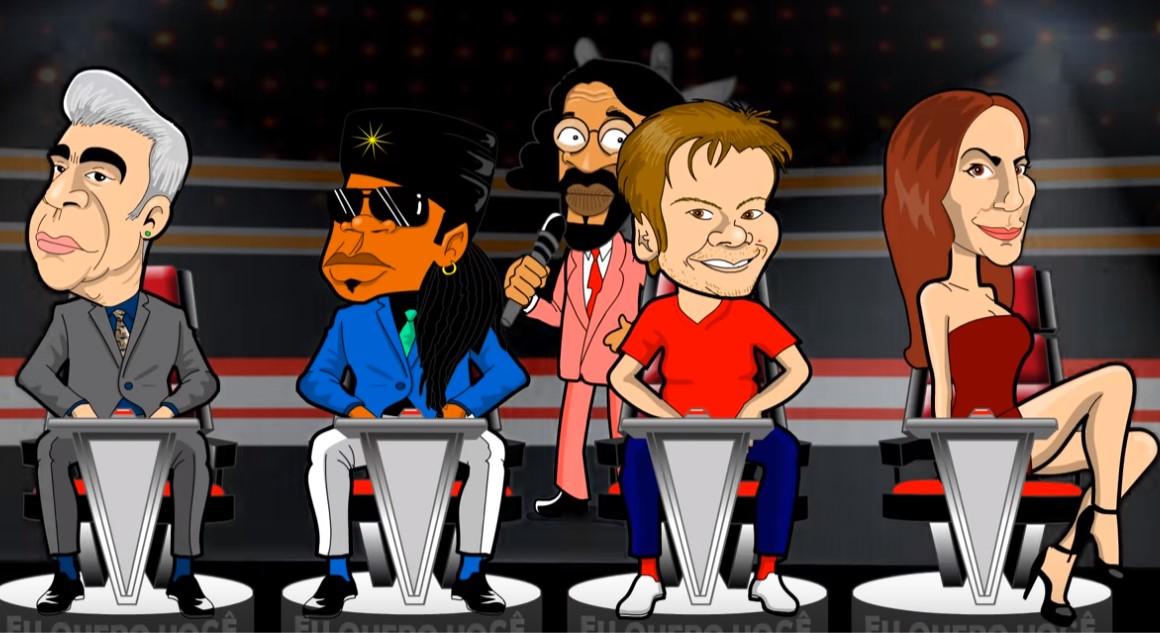 Paródia política, The Voice Brasília, foi lançada hoje pelo cartunista André Guedes (Foto: Reprodução/YouTube)
