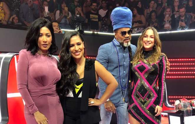 O time de técnicos do reality The Voice Kids (Foto: Divulgação/Globo)