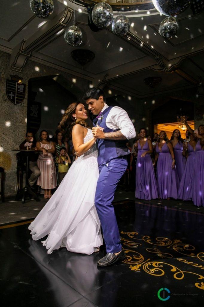 Bruno Azevedo e Mayara Netto durante o casamento (Foto: Reprodução)