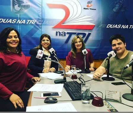 João Guilherme na rádio (Foto: Divulgação)