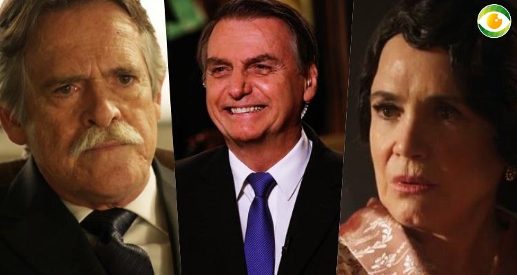 Zé de Abreu e Regina Duarte, ambos da Globo, briga por Bolsonaro