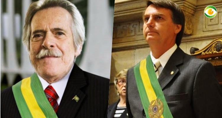 José de Abreu e Jair Bolsonaro (Foto: Reprodução/Montagem)