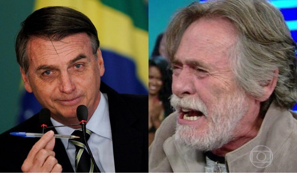 Bolsonaro e Zé de Abreu (Foto: Montagem)