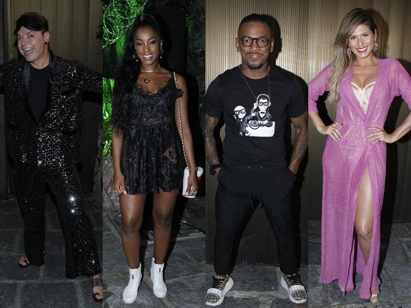 Confira os looks da festa de aniversário da cantora Ludmilla; Iza e Nego do Borel causaram. (Foto: Reprodução/Montagem)
