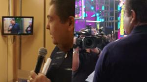 Faustão mostrou os bastidores da Globo e levou produção à loucura