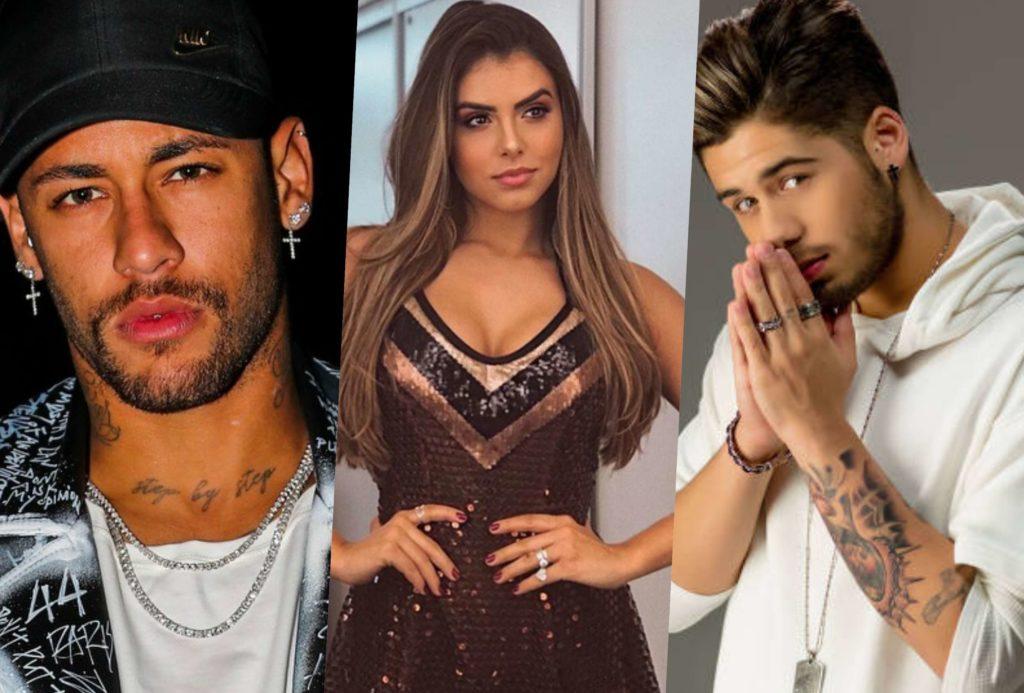 Neymar provocou Zé Felipe ao ser flagrado com Isabella Arantes, namorada do cantor (Foto montagem: TV Foco)