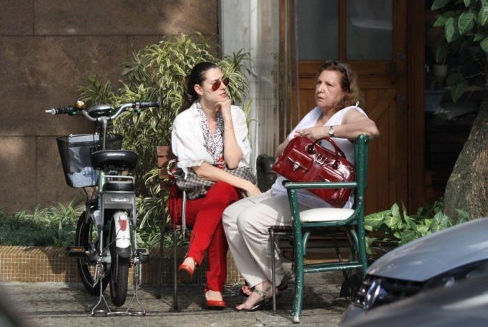 Lavínia Vlasak e a mãe Eugênia Gutmann (Foto: AgNews)