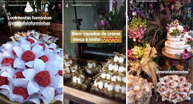 As imagens da decoração e docinhos foram divulgadas pela confeiteira responsável (Foto: Reprodução/Instagram)
