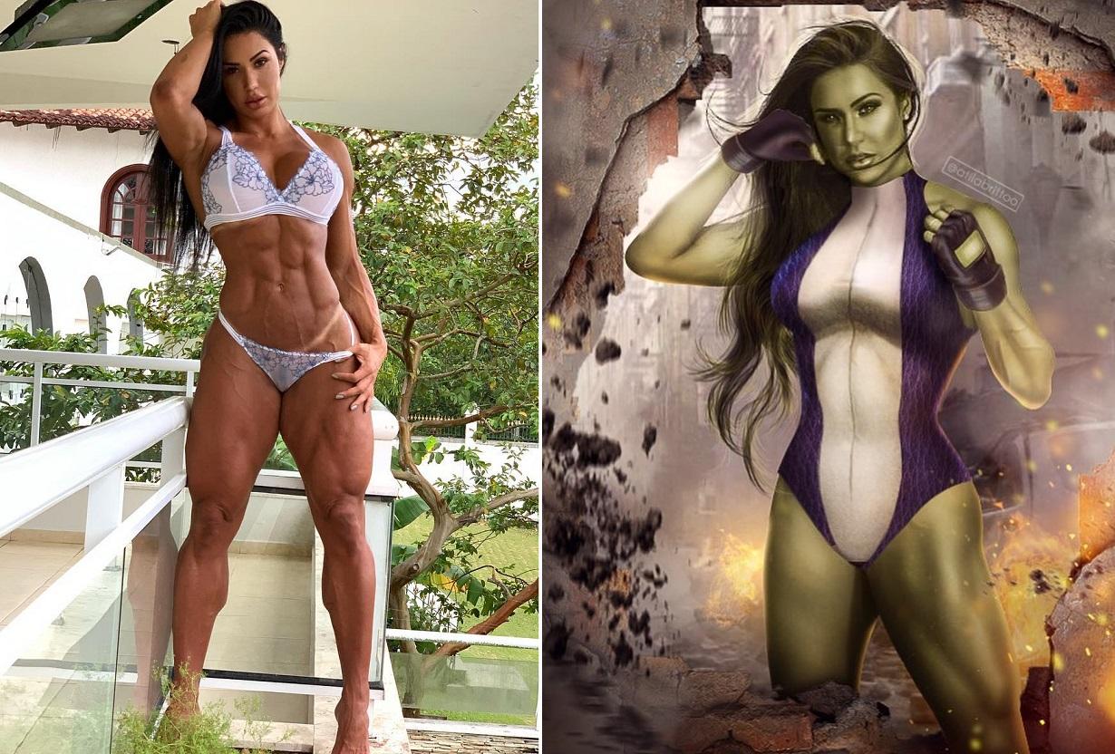 Gracyanne Barbosa foi chamada de Mulher-Hulk por fã (Foto: Reprodução/Instagram)