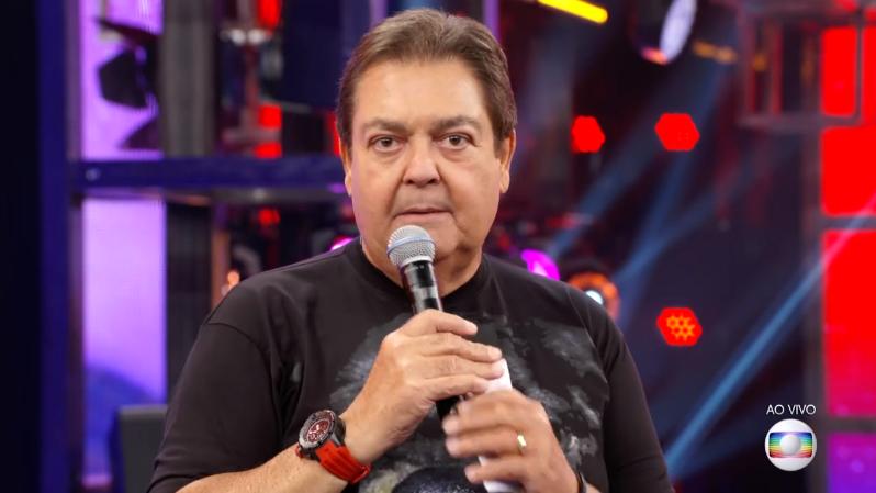 O apresentador Fausto Silva no comando do Domingão do Faustão (Foto: Reprodução/Globo)