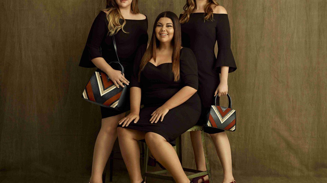 A atriz da Globo, Fabiana Karla, ao lado de suas filhas Beatriz e Laura (foto: Gui Paganini)