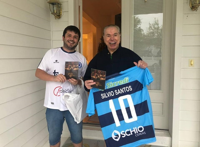 Silvio Santos e Felipe Bonella (Foto: Arquivo Pessoal)
